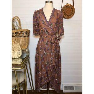 NWT Chelsea & Violet Floral Wrap Dress